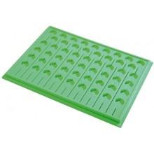 Medikamententablett PVA 53 aus Kunststoff für 17 Dispenser und 53 Becher