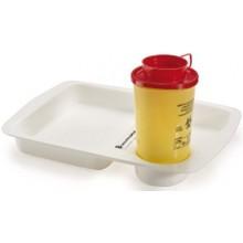 Medikamententablett, PVM, mit Vertiefung für Abwurfbehälter