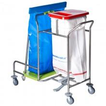 CBW10 Wäschesammler mit angeschweißtem Abfallsammler