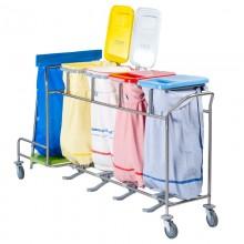 CBW40L Wäschesammler mit angeschweißtem Abfallsammler