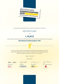 Deutschlands Kundenchampion 2019