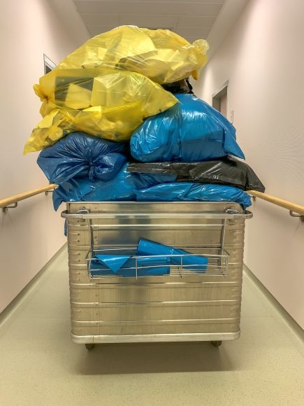 Müllentsorgung im Krankenhaus
